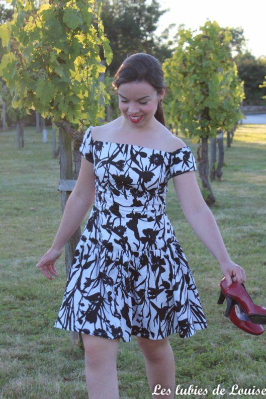 Seda dress pauline alice black and white- les lubies de louise-3