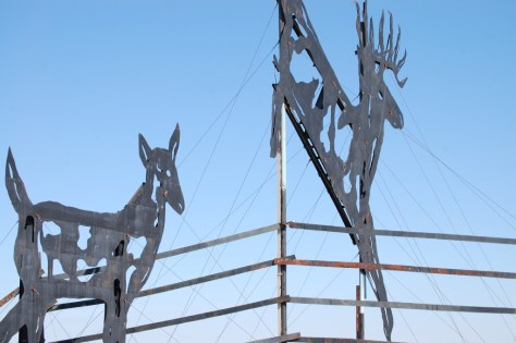 Enchanted Highway Stop #2 - 'Deer Crossing""