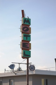 Motel sign in Chinook, Montana
