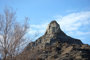 A peak in Makoshika State Park in Glendive, Montana