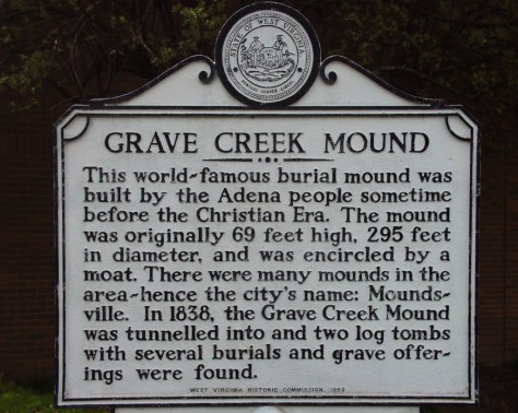 Grave Creek Mound in Moundsville, WV