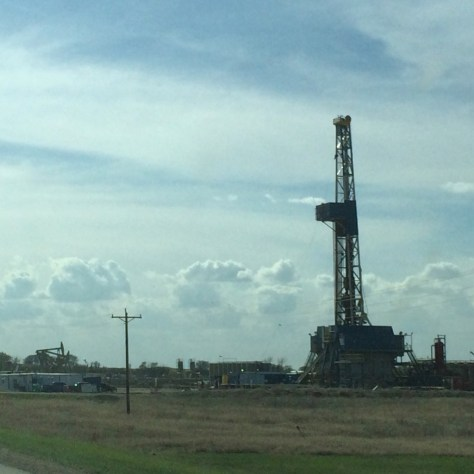 An oil rig in Williston, ND