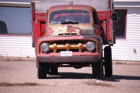 Old truck in Langdon, ND