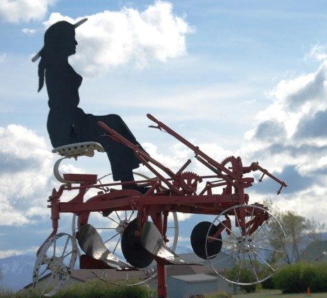 Metal Gal on Tiller in Pendroy, Montana