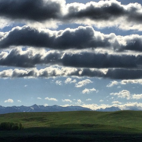 This day there were beautiful clouds over Wilsall, MT
