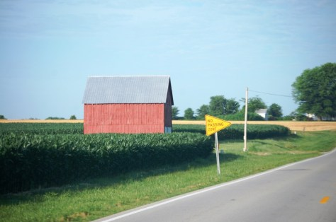 A nice red barn in a corn field south of Russellville on US Route 79