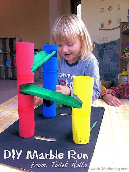 Toilet Marble Run : Diy marble run from toilet rolls lesson plans