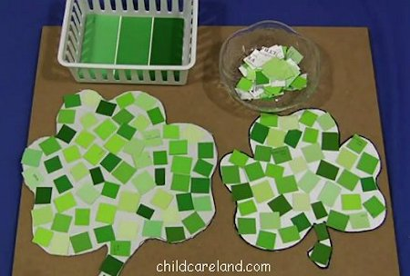 Paint Chip Shamrocks