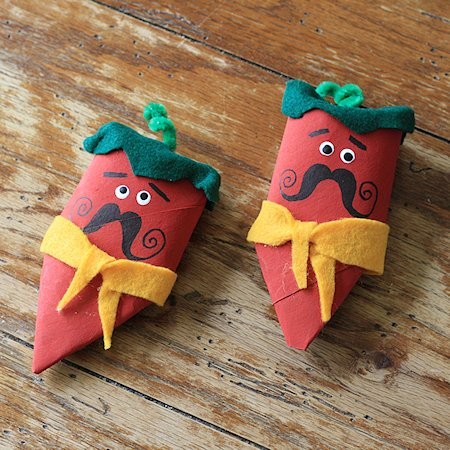 Cardboard Tube Chili Pepper Maracas
