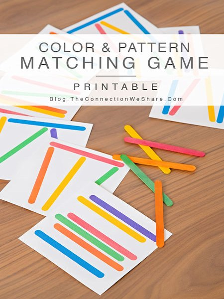 Color and Pattern Matching Game for Kids