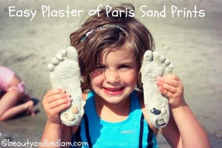 Plaster of Paris Sand Prints