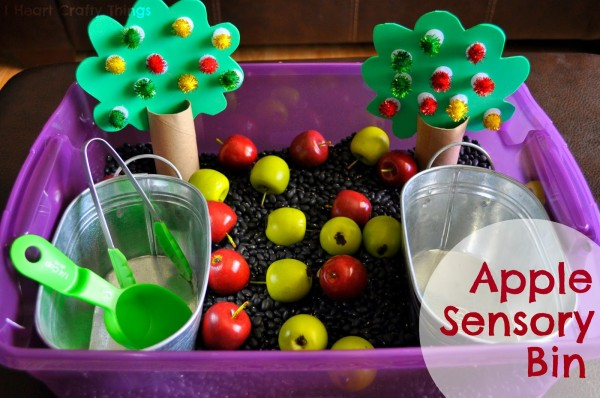 Apple Orchard Sensory Bin Lesson Plans