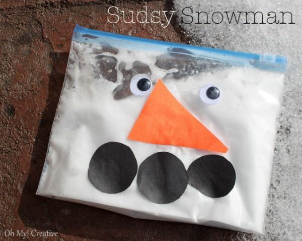 Sudsy Snowman Kids Craft
