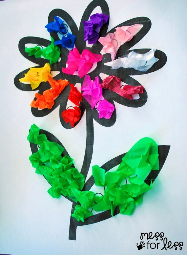 Tissue Paper Flower Art