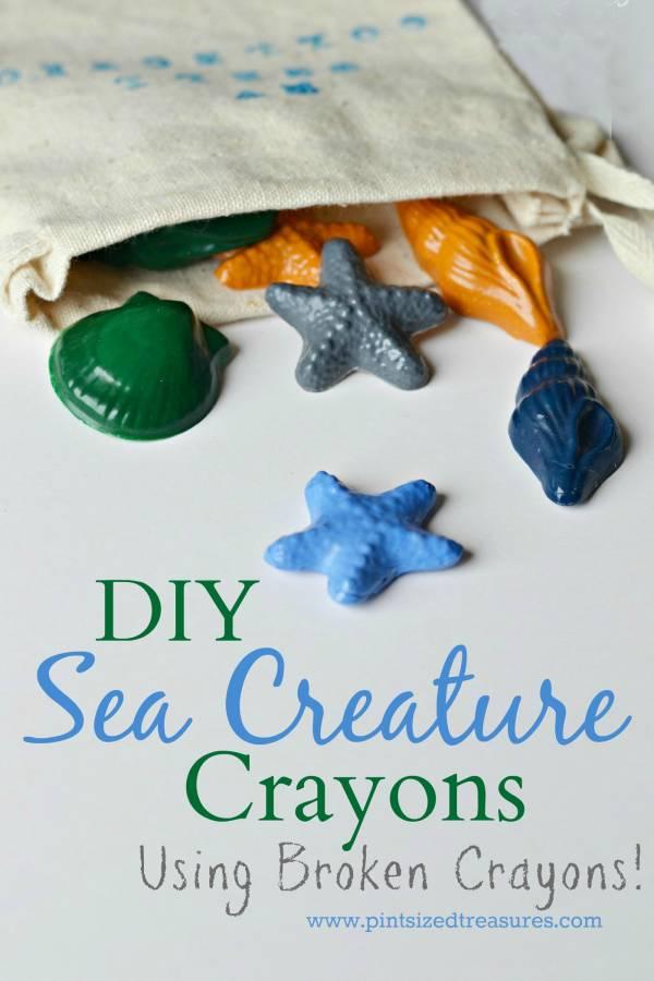 DIY Sea Creature Crayons