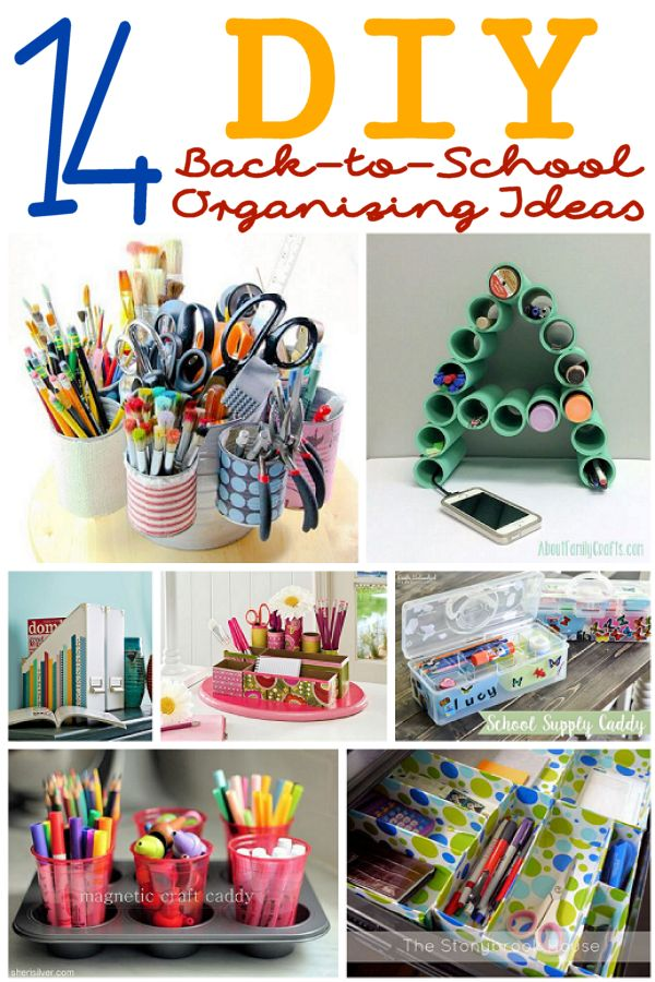 14 DIY Back-to-School Organizing Ideas