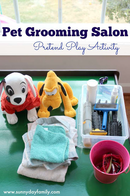 pet salon pretend play