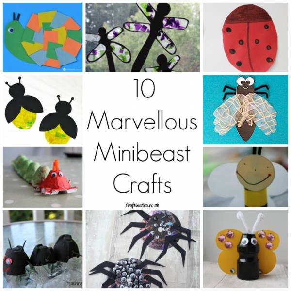 Make bugs and spiders out of common household items.