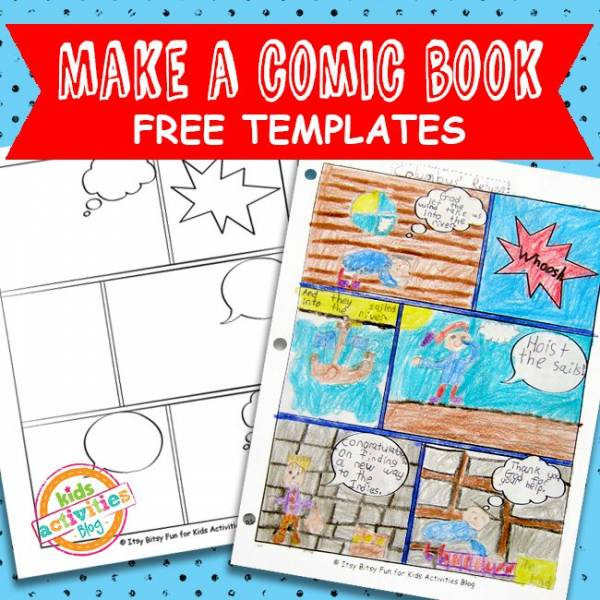Crush image with free printable children's book template