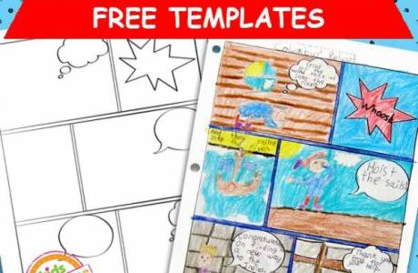 Encourage Writing and Storytelling with Printable Comic Book Templates