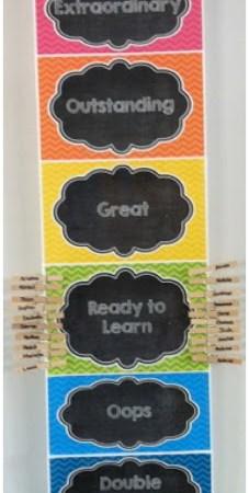 Chalkboard & Chevron Classroom Decor {Clip Chart freebie!}