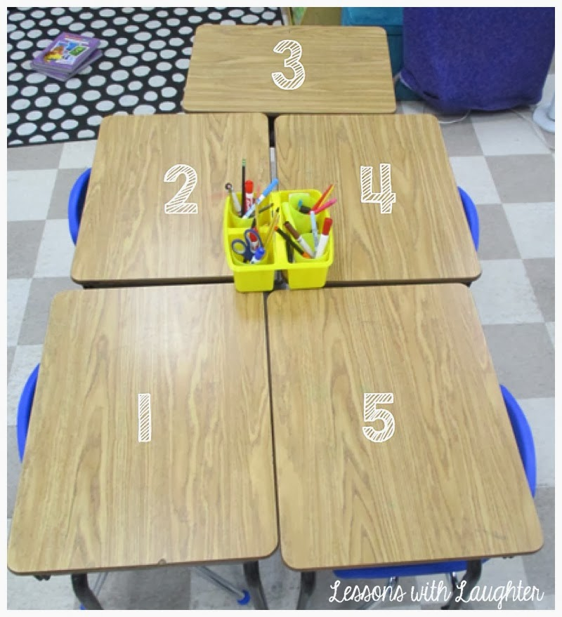 Right Now In My Classroom I Have Groups Of 4 And 5, So In My Groups With  Only 4 Students, The Person Sitting In The #1 Desk Acts As Person #1 AND #5.