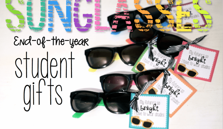 Sunglasses: End of the Year Student Gift Freebie!