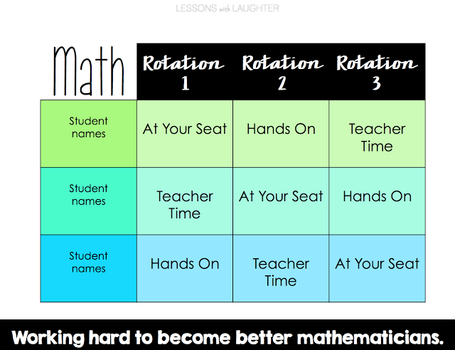 Class Rotation Schedules Reading Math Amp Spelling