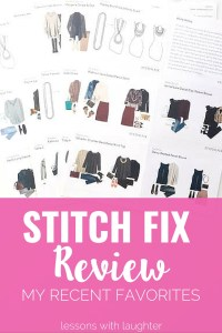 Stitch Fix Review - My Recent Favorites