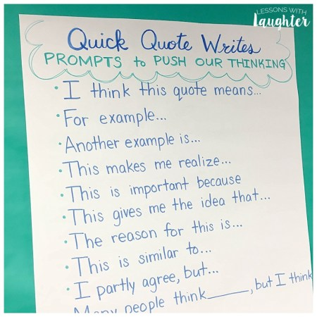 Quote Quick Writes are a great way to combine daily writing and character education!