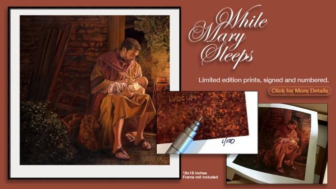 While Mary Sleeps Prints