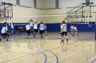 Kodiaks men warming up for their second half of the season in the Val Matteoti gym on January 6.