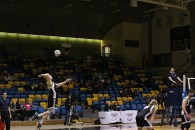 Nils Reger jumps for the serve against Ambrose Lions Jan 15. in the Val Matteoti Gym.