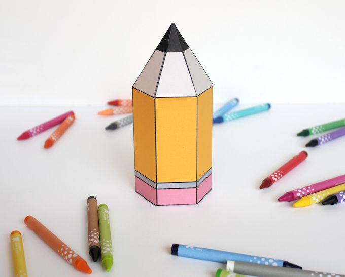 Free Printable Pencil Gift Boxes