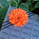 Fringed Paper Flower Gift Bow
