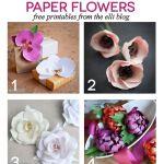 8 Printable DIY Paper Flowers