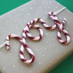 Cursive Clay Candy Cane Gift Tags