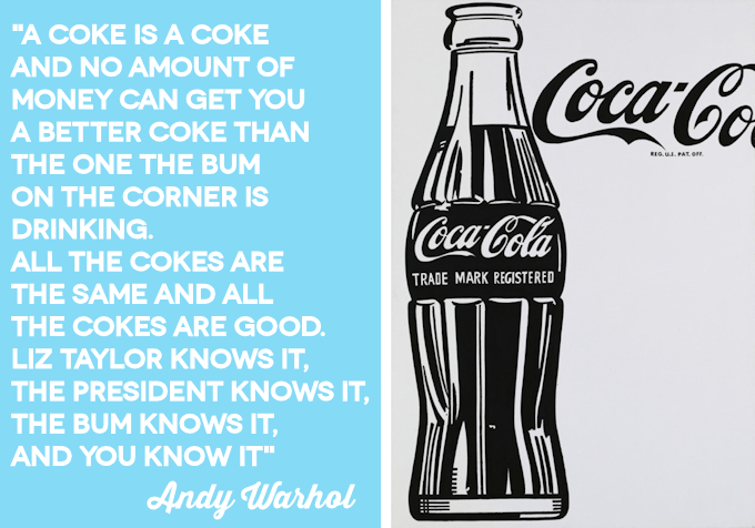 Andy Warhol Coke Quote