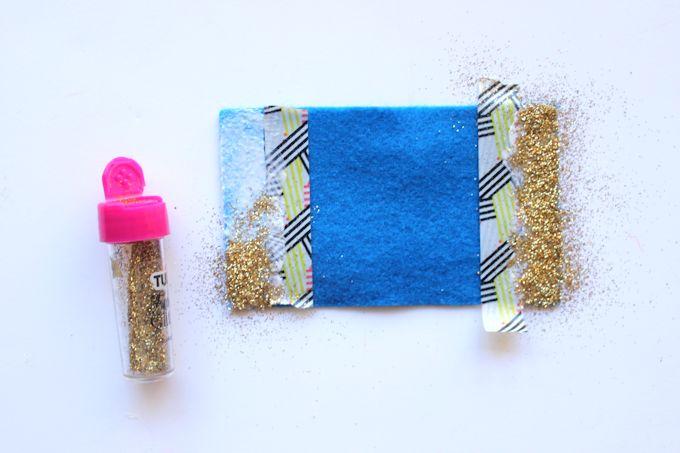 step 1 - glittery felt bows