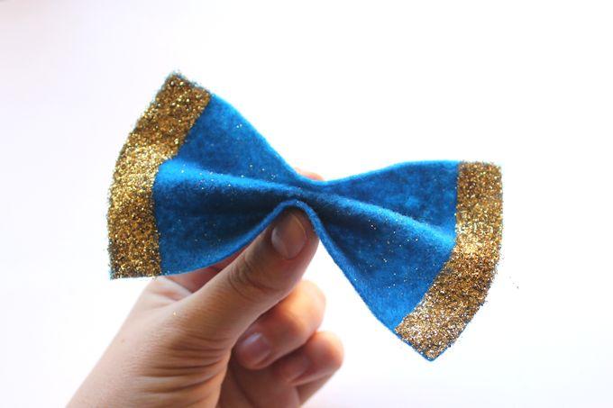 step 3 - glittery felt bows