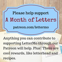 Support a Month of Letters. (1)