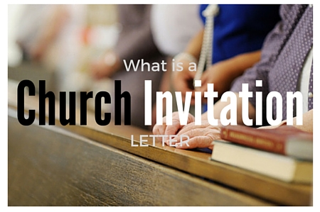 Church invitation letter to a worship event