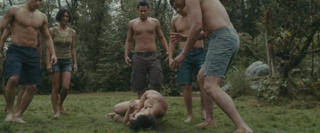 men stripped naked by friends
