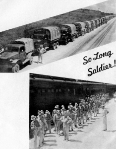 Soldiers leaving Camp Wolters