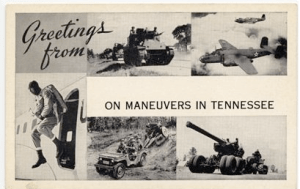 Tennessee Maneuvers Postcard