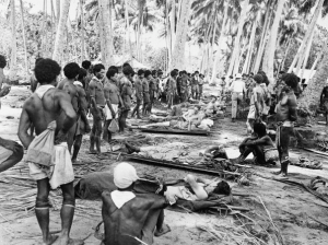 Wounded soldiers on New Guinea, 1943