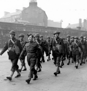 American Troops March Through Belfast