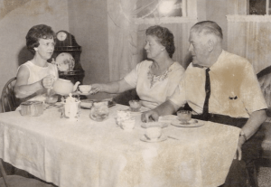 Milly with Mr. and Mrs. Herbert Brabant in the 1960s