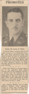 Lorne Promoted To Lt. Colonel