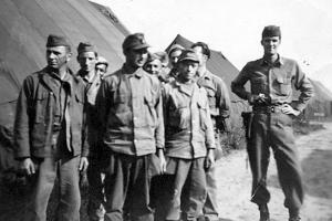 Guarding German POWs at Camp Tophat